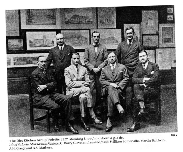 Diet Kitchen Group of Architects.  John Lyle standing at L and William Somerville seated at L.