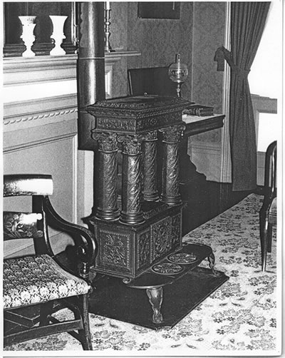 Stove produced by the McQuesten iron foundry