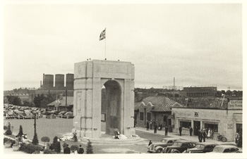 Memorial Arch at Niagara (construction owing to efforts of Thomas B. McQuesten, Chairman of Niagara Parks Commission, 1934-1943)