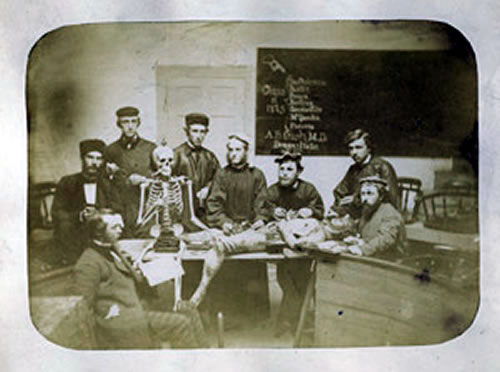 Dr. Calvin Brooks McQuesten And Other Doctors with Cadaver