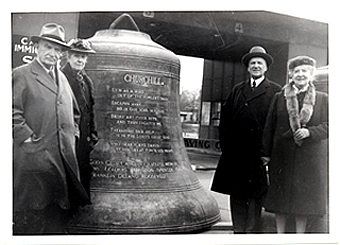 Large Bell At Carillon Tower, Niagara (construction owing to efforts of Thomas B. McQuesten, Chairman of Niagara Parks Commission, 1934-1943)