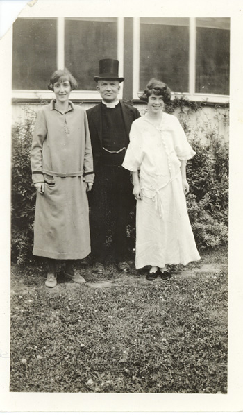 Rev. Calvin w/ Patients at the Sanatorium