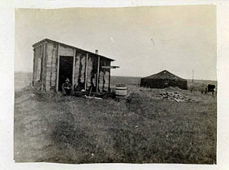 Rev. Calvin McQuesten's Shack on his Homestead out west