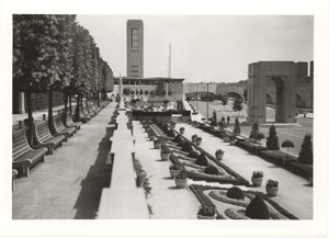 Park at Niagra With Carillon Tower (construction owing to efforts of Thomas B. McQuesten, Chairman of Niagara Parks Commission, 1934-1943)