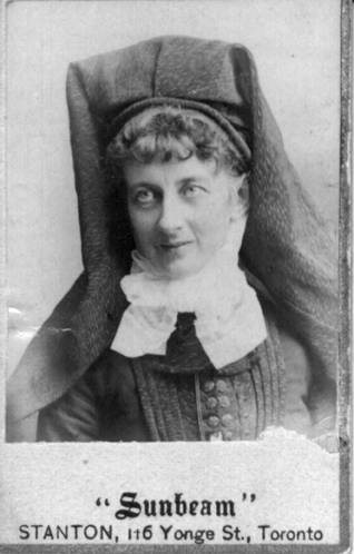Mary Baker McQuesten in a fashionable winter hat