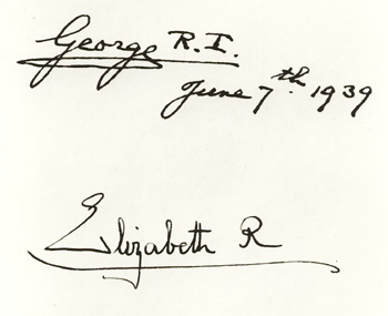 Royal Signatures: George IV and Elizabeth